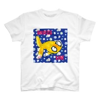 金魚の頂天眼ちゃん カラフル T-shirts
