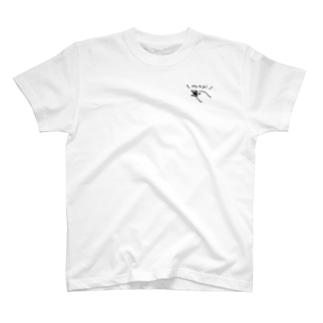ポジティブな文鳥 ひかえめVer. T-shirts