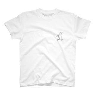 ひとふでがきペンギン T-shirts