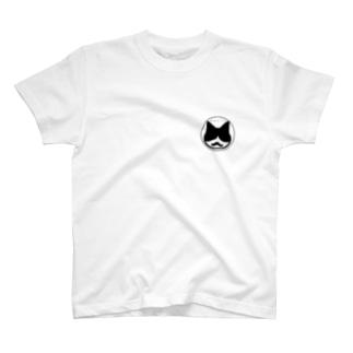 ひげ猫マリオ アイコン T-shirts