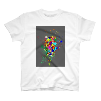 ペンキくま飛び散り T-shirts