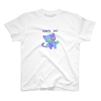 ハイブリッド キャット T-shirts