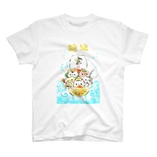 七福神ましまろうと仲間たち T-shirts