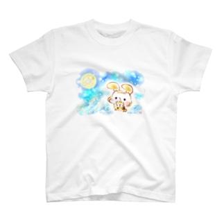 お月見うさぎましまろう T-shirts