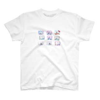 くまきちしーる貼ったよ T-shirts