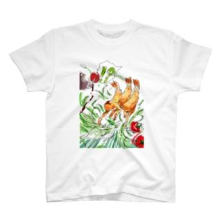 逃げ出したエビフライ T-shirts