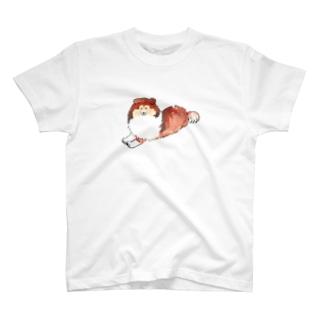 ふせをしている大人のシェルティ T-shirts