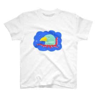 野鳥たこ T-shirts