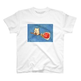 わたくまくんとりんご飴 T-shirts