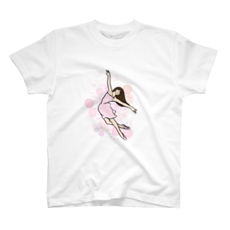 バレリーナ ピーチ T-shirts