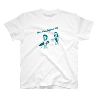 The Eight Wood Marketの落し物(蒼) T-shirts