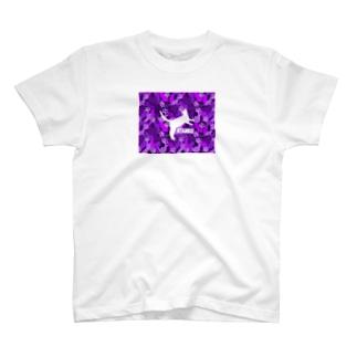 NYANKO 迷彩 カモフラ パープル T-shirts