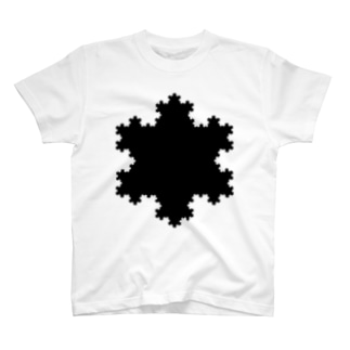 Fractal Koch Snowflake T-shirts