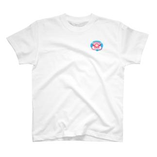 ヘッドセットの文鳥 正面 T-shirts