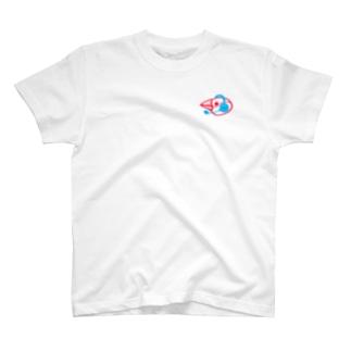 ヘッドセットの文鳥 横顔 T-shirts