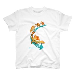 スピノサウルス今昔 T-shirts