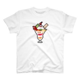 ドット絵パフェ文鳥 T-shirts