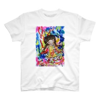 カラフルガール T-shirts