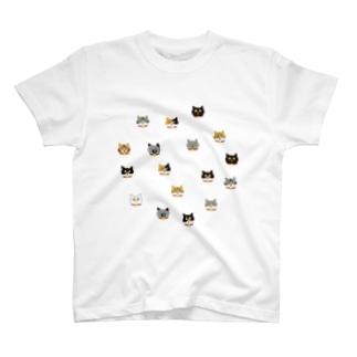 猫の顔 T-shirts