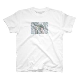 萌の紫陽花、ドライフラワー T-shirts