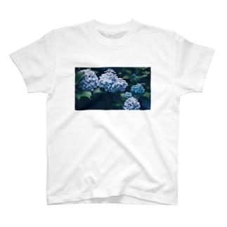 suibo.の紫陽花を愛す人へ T-shirts