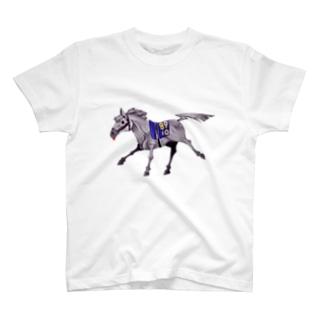 芦毛の馬 T-shirts