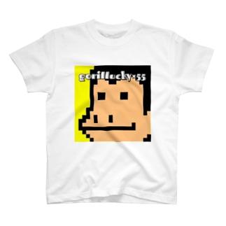 ウホスTシャツ(ゴリラッキー) T-shirts
