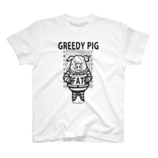 GREEDY PIG T-shirts
