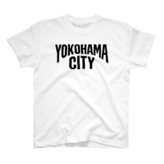 横浜 YOKOHAMA ヨコハマシティ T-shirts