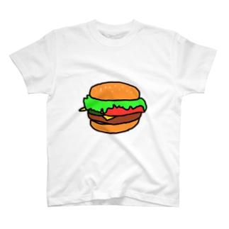 シンプルハンバーガーTシャツ T-Shirt