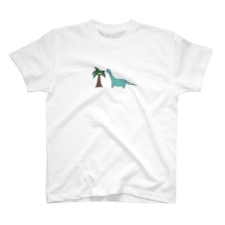 きょうりゅうとやしの木 T-shirts