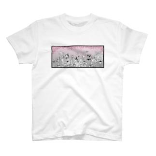 酔いどれ百鬼夜行 花見宴之図 T-shirts