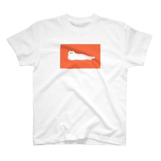 暑さで溶けるねこ T-shirts