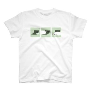 仕事を阻むねこ T-shirts