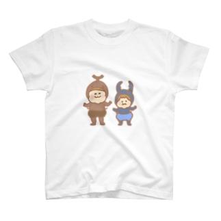 カブトムシとクワガタの子供 T-shirts