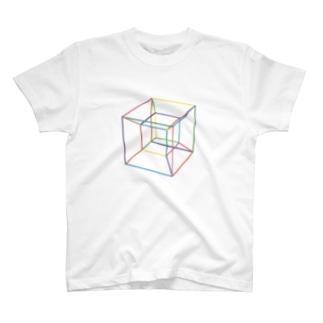 四次元超立方体 カラフル T-shirts