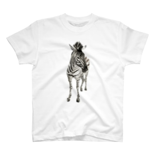 Animals シリーズ 〜グラントシマウマ〜 T-shirts