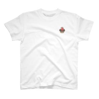 ワンポイントカップケーキハム T-shirts