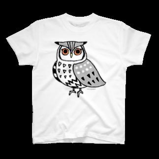 miuのアフリカオオコノハズク T-shirts