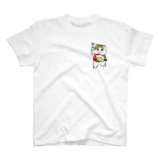 黄ぶなたんたん🐱🐟ワンポイント T-shirts