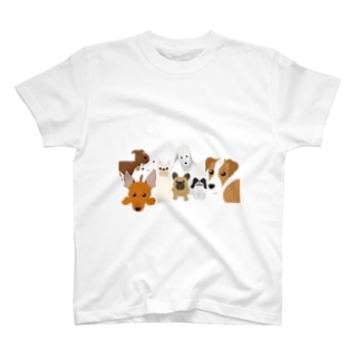 犬がいっぱいTシャツ T-shirts