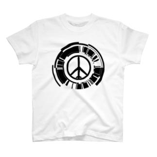 MGSPWピースマーク T-shirts