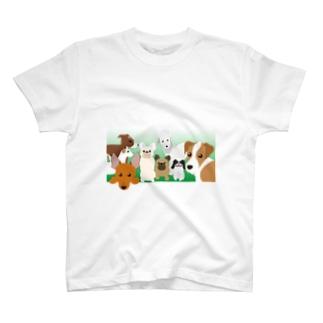 犬がいっぱい2 T-shirts