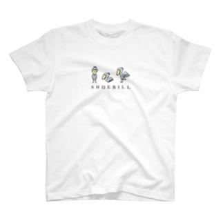 1、2、3羽のハシビロコウ T-shirts