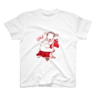 papricaのひつじさん、オレッ! T-shirts