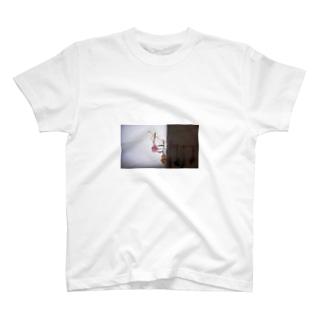 エモ 原宿系 ドライフラワー  T-shirts