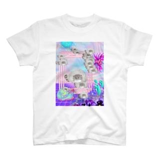 マヌルネコ 幻覚 ゆめかわ T-shirts
