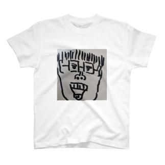 旦那が描いた、のりちゃん(私の顔) T-shirts