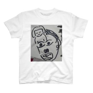 旦那のイラスト。題名「カッ」 T-shirts