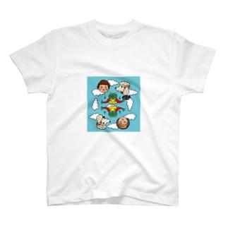 お空でピクニック T-shirts